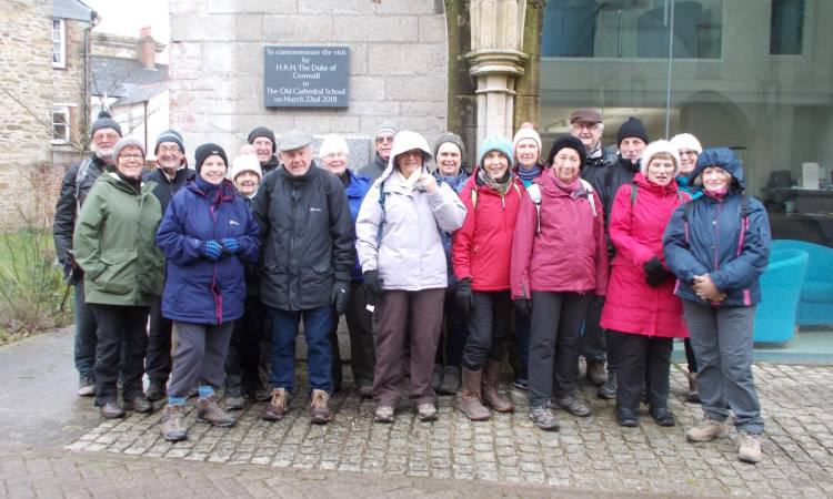 Lostwithiel U3A Walking Group at Old Cathedral School Truro